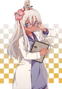 Rating: Safe Score: 29 Tags: aka_ringo az+play dress kantai_collection megane ro-500 tan_lines User: fireattack