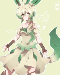 Rating: Safe Score: 38 Tags: anthropomorphization dress leafeon pokemon takeshima_(nia) User: charunetra