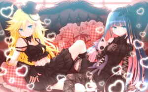 Rating: Safe Score: 105 Tags: gothic_lolita kuinji_51go lolita_fashion panty panty_&_stocking_with_garterbelt stocking thighhighs wallpaper User: blooregardo
