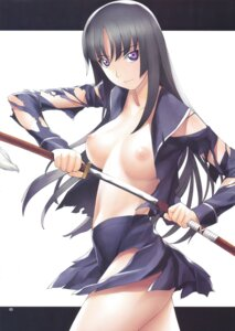 Rating: Questionable Score: 26 Tags: breasts ga-rei_zero isayama_yomi nipples no_bra open_shirt sword tagme tamaki_yayoi torn_clothes User: Nazzrie