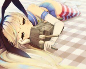 Rating: Safe Score: 58 Tags: kantai_collection otogi_kyouka rensouhou-chan shimakaze_(kancolle) thighhighs User: Mr_GT