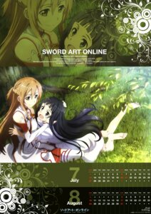 Rating: Safe Score: 28 Tags: asuna_(sword_art_online) calendar kawakami_tetsuya sword_art_online thighhighs yui_(sword_art_online) User: Radioactive