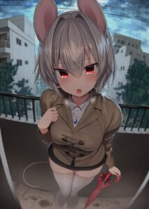 Rating: Safe Score: 59 Tags: 5240mosu animal_ears nazrin tail thighhighs touhou umbrella User: Mr_GT