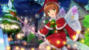 Rating: Safe Score: 10 Tags: card_captor_sakura christmas dress kinomoto_sakura moonknives pantyhose tagme weapon wings User: Spidey