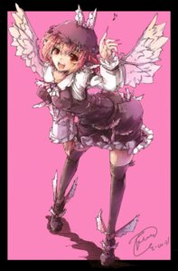 Rating: Safe Score: 13 Tags: mystia_lorelei thighhighs toor_0111 touhou wings User: Radioactive