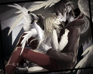 Rating: Safe Score: 13 Tags: bandages isaac_foster rachel_gardner satsuriku_no_tenshi tagme weapon wings User: charunetra