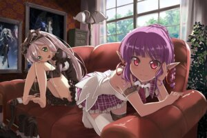Rating: Safe Score: 188 Tags: beek dress elf lolita_fashion mabinogi pointy_ears thighhighs User: fairyren