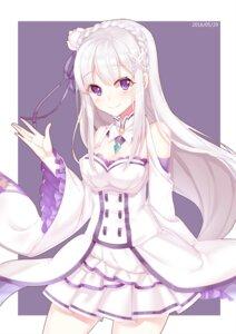 Rating: Safe Score: 26 Tags: cleavage dress emilia_(re_zero) kan_(rainconan) re_zero_kara_hajimeru_isekai_seikatsu User: Mr_GT