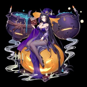 Rating: Questionable Score: 40 Tags: boku_koyuki_mx cleavage dress halloween heels horns no_bra pantsu see_through tentacles witch User: sym455