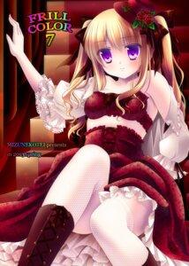 Rating: Questionable Score: 27 Tags: fishnets lolita_fashion mizuki_yuuma stockings thighhighs User: 椎名深夏