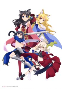 Rating: Safe Score: 26 Tags: animal_ears armor bike_shorts fate/kaleid_liner_prisma_illya fate/stay_night heels illyasviel_von_einzbern luviagelita_edelfelt miyu_edelfelt sword thighhighs toosaka_rin User: drop