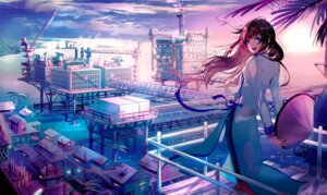 Rating: Safe Score: 37 Tags: asian_clothes landscape tagme umbrella User: BattlequeenYume