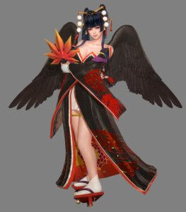 Rating: Questionable Score: 12 Tags: cg cleavage dead_or_alive dead_or_alive_6 garter japanese_clothes nyotengu wings User: Yokaiou