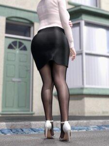 Rating: Questionable Score: 28 Tags: ass bra cg heels pantyhose see_through tagme User: saemonnokami