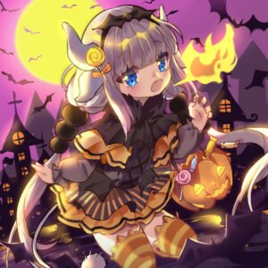 Rating: Safe Score: 10 Tags: halloween horns kanna_kamui kobayashi-san_chi_no_maid_dragon tail thighhighs yuzhi User: Mr_GT