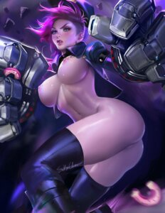 Rating: Explicit Score: 81 Tags: ass bottomless breasts league_of_legends mecha_musume nipples no_bra open_shirt pussy sakimichan tattoo thighhighs vi_(league_of_legends) User: tapoutlacie