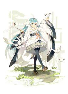 Rating: Safe Score: 68 Tags: hatsune_miku japanese_clothes lf pantyhose vocaloid yuki_miku User: Mr_GT