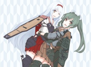 Rating: Safe Score: 18 Tags: amagi_mikoto armor japanese_clothes kantai_collection lolita_fashion shoukaku_(kancolle) thighhighs wa_lolita zuikaku_(kancolle) User: Radioactive