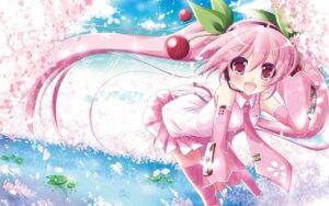 Rating: Safe Score: 33 Tags: hatsune_miku sakura_miku vocaloid wallpaper User: Rainbow-Falls
