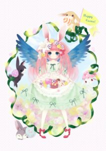 Rating: Safe Score: 9 Tags: animal_ears bunny_ears dress kabasawa_kina wings User: hobbito