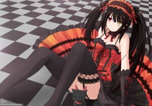 Rating: Safe Score: 62 Tags: cleavage date_a_live garter_belt heterochromia kazenokaze stockings thighhighs tokisaki_kurumi User: ddns001
