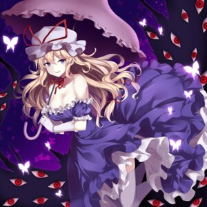 Rating: Safe Score: 40 Tags: cleavage dress takehana_note thighhighs touhou umbrella yakumo_yukari User: Mr_GT