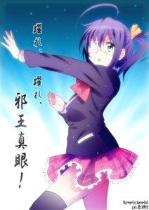 Rating: Safe Score: 18 Tags: chuunibyou_demo_koi_ga_shitai! eyepatch seifuku takanashi_rikka thighhighs yamasaki_wataru User: 椎名深夏