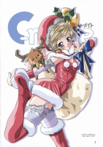 Rating: Safe Score: 7 Tags: christmas doudai_shouji thighhighs User: Radioactive