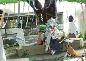 Rating: Safe Score: 28 Tags: hatsune_miku japanese_clothes kuroi_asahi vocaloid User: BattlequeenYume