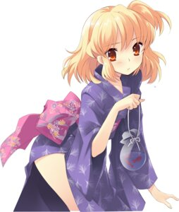 Rating: Safe Score: 38 Tags: flyable_heart ito_noizi sumeragi_amane yukata User: fireattack