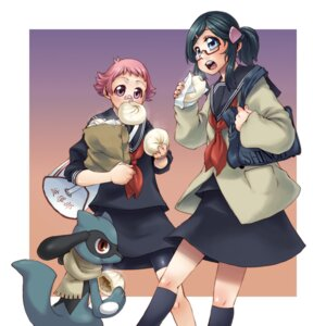 Rating: Safe Score: 6 Tags: bandaid bike_shorts hikari_(pokemon) megane pokemon ringo78 riolu seifuku sumomo_(pokemon) User: Radioactive