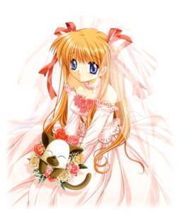 Rating: Safe Score: 5 Tags: dress hinoue_itaru kanon key neko sawatari_makoto wedding_dress User: marechal