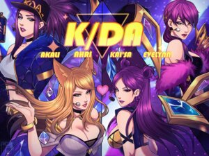 Rating: Safe Score: 1 Tags: ahri akali animal_ears cleavage evelynn headphones kai'sa league_of_legends maiulive User: charunetra