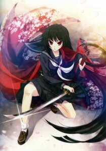 Rating: Safe Score: 15 Tags: katagiri_hinata seifuku sword User: WtfCakes