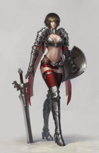 Rating: Safe Score: 36 Tags: armor cleavage sword thighhighs youyi User: Radioactive