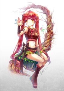 Rating: Safe Score: 21 Tags: elf pointy_ears tagme tattoo weapon User: fairyren