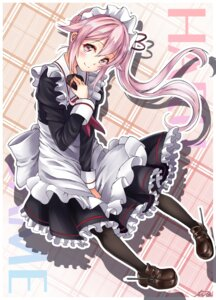Rating: Safe Score: 29 Tags: harusame_(kancolle) kantai_collection maid pantyhose User: Mr_GT