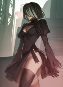 Rating: Safe Score: 43 Tags: aconitea cleavage dress leotard nier_automata thighhighs yorha_no.2_type_b User: charunetra