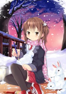 Rating: Safe Score: 14 Tags: gleision_adain seifuku thighhighs User: animrlovers