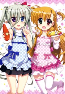 Rating: Safe Score: 44 Tags: asteion einhart_stratos fujima_takuya heterochromia mahou_shoujo_lyrical_nanoha mahou_shoujo_lyrical_nanoha_vivid sacred_heart thighhighs vivio User: drop