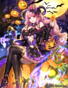Rating: Questionable Score: 41 Tags: ass dress fishnets gyakushuu_no_fantasica halloween heels horns katagiri_hachigou no_bra nopan pointy_ears tail thighhighs User: charunetra