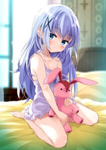 Rating: Questionable Score: 62 Tags: gochuumon_wa_usagi_desu_ka? kafuu_chino lingerie loli moso User: Radioactive