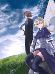 Rating: Safe Score: 7 Tags: armor baku_(artist) fate/apocrypha fate/stay_night jeanne_d'arc jeanne_d'arc_(fate) sieg_(fate/apocrypha) sword thighhighs User: 川俣慎一郎