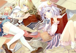 Rating: Safe Score: 31 Tags: alice_margatroid bloomers fixme gap microstoria patchouli_knowledge thighhighs tommy touhou User: thfp