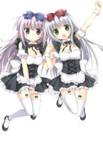 Rating: Safe Score: 43 Tags: airi_(alice_or_alice) alice_or_alice_siscon_nii-san_to_futago_no_imouto cleavage garter_belt heels korie_riko maid rise_(alice_or_alice) stockings thighhighs User: Twinsenzw