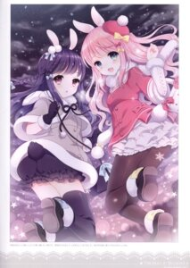 Rating: Questionable Score: 26 Tags: animal_ears ass bloomers bunny_ears pantyhose tail thighhighs w.label wasabi_(artist) User: Radioactive