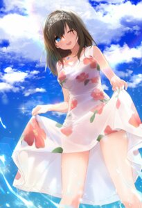 Rating: Questionable Score: 38 Tags: dress fpanda sagisawa_fumika see_through skirt_lift summer_dress the_idolm@ster the_idolm@ster_cinderella_girls wet wet_clothes User: Mr_GT
