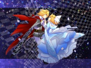 Rating: Safe Score: 5 Tags: haru_aki kagamine_len kagamine_rin vocaloid User: fairyren