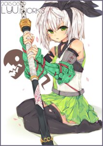 Rating: Safe Score: 18 Tags: armor konpaku_youmu lyn sword thighhighs touhou User: Mr_GT