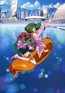 Rating: Safe Score: 14 Tags: japanese_clothes macross macross_frontier oosanshouuo-san ranka_lee thighhighs User: Radioactive